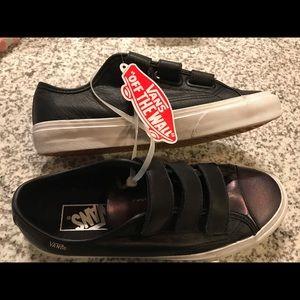 Brand new! Black leather Vans
